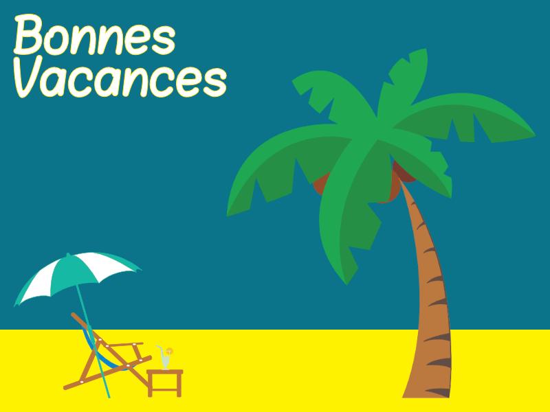 Bonnes Vacances palmier