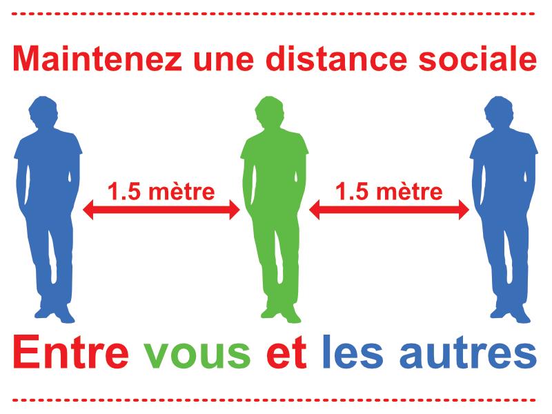Maintenez une distance sociale.