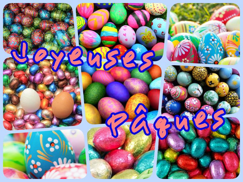 Joyeuses Pâques - oeufs multicolores