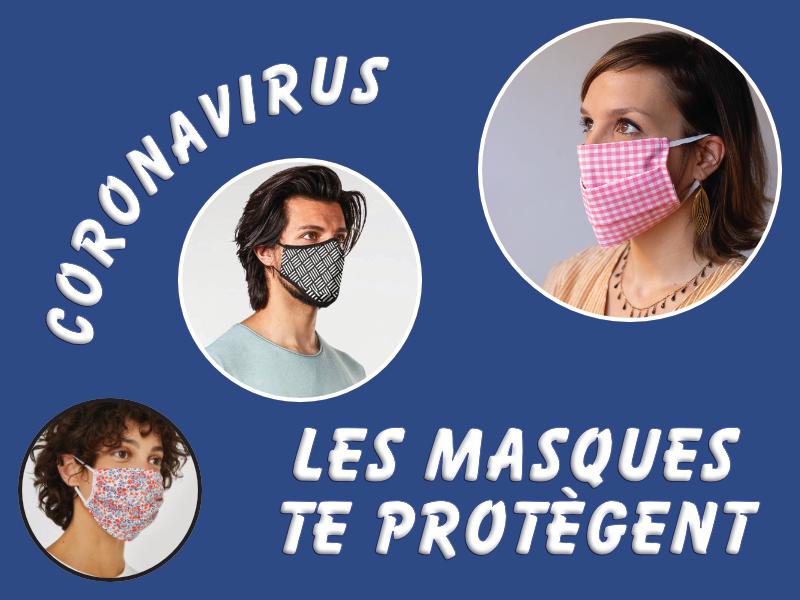 Coronavirus - les masques te protègent