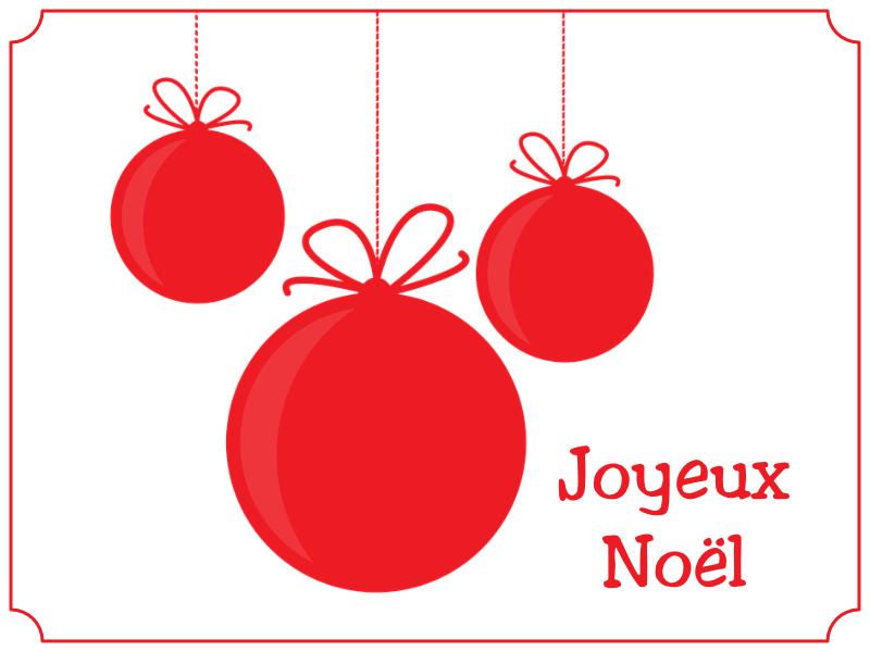 joyeux Noël boule