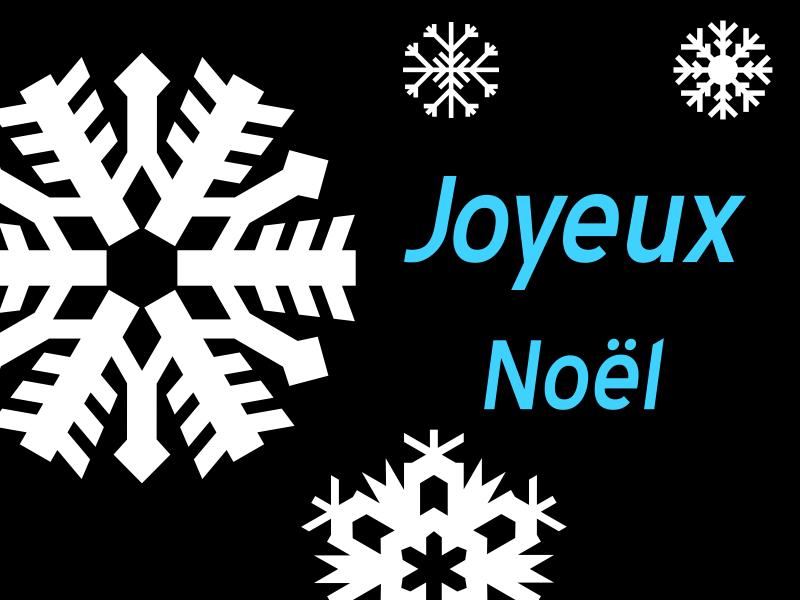 Joyeux Noël - flocons de neige