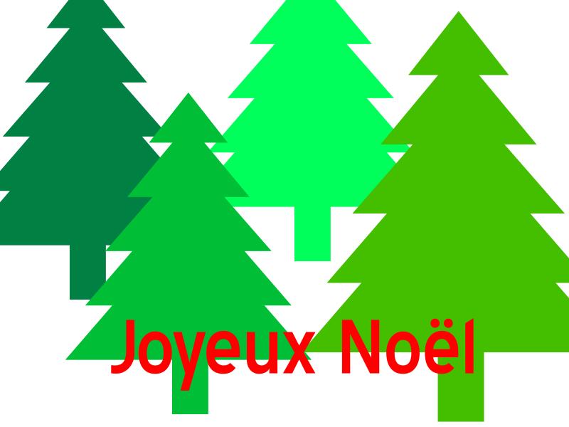 Joyeux Noël - Sapins