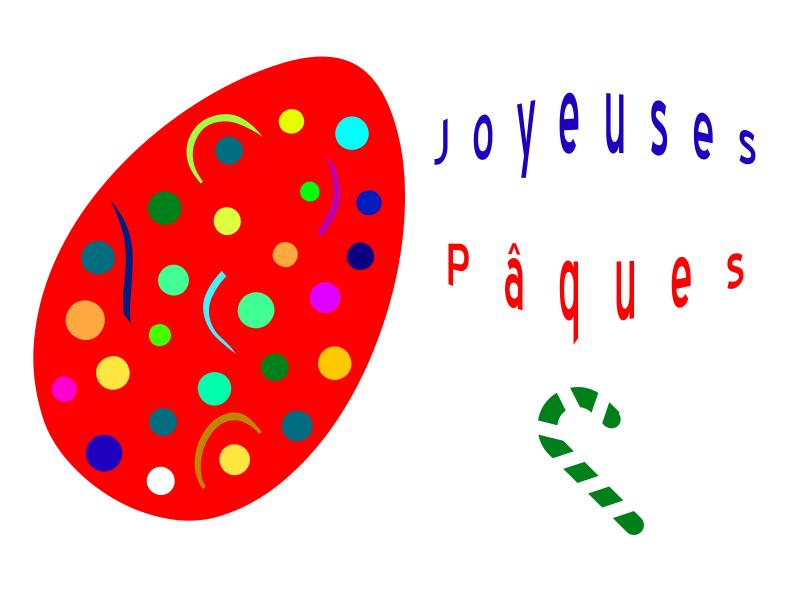 Joyeuses Pâques - Oeuf rouge