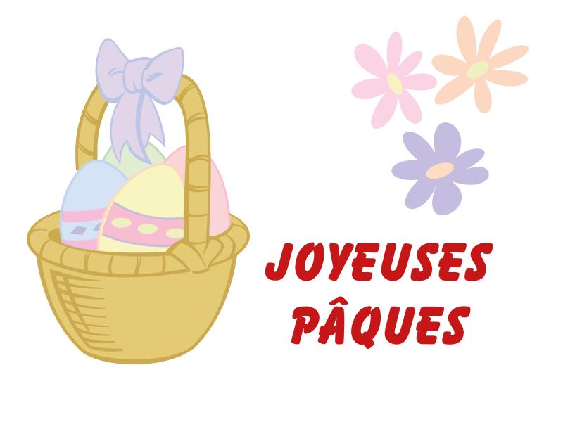 Joyeuses Pâques - Oeufs dans un panier
