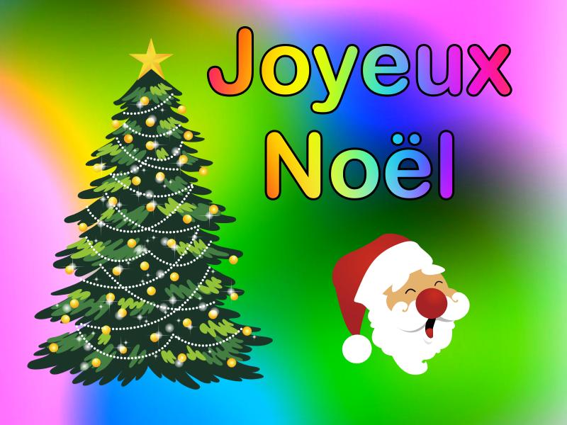 Joyeux Noël - Sapin et Père Noël